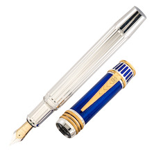 Onoto Nelson Fountain Pen Sterling Silver Limited Edition