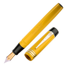 Onoto Magna Classic 18ct Gold Nib Fountain Pen Yellow Plain