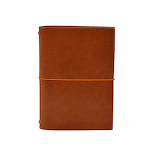 Paper Republic Grand Voyageur Leather Notebook (Passport Size) Cognac