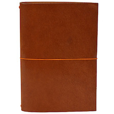 Paper Republic Grand Voyageur Leather Notebook (XL) Cognac