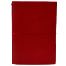 Paper Republic Grand Voyageur Leather Notebook (XL) Red
