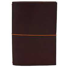 Paper Republic Grand Voyageur Leather Notebook (XL) Chestnut