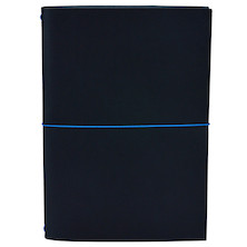 Paper Republic Grand Voyageur Leather Notebook (XL) Navy Blue
