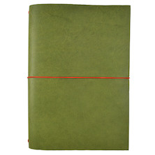 Paper Republic Grand Voyageur Leather Notebook (XL) Green