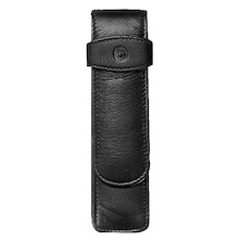 Pelikan Soft Leather Pen Pouch for Two Pens Black