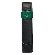 Pelikan Soft Leather Pen Pouch for One Pen Green and Black
