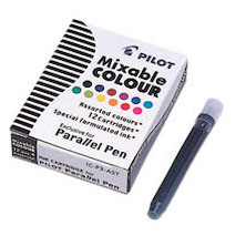 Pilot ICP3 S12 Parallel Pen Ink Cartridges Assorted Pack