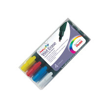 Pentel Wet Erase Chalk Marker Pen SMW26 Set of 4 BCGW