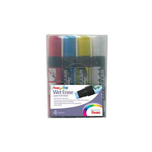 Pentel Wet Erase Jumbo Chalk Marker Pen SMW56 Set of 4