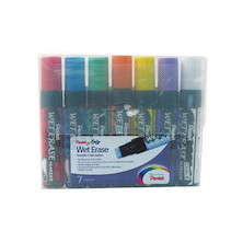 Pentel Wet Erase Jumbo Chalk Marker Pen SMW56 Set of 7
