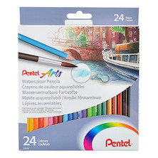 Pentel Watercolour Pencils Set of 24
