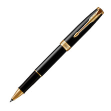 Parker Sonnet Rollerball Pen Black Lacquer with Gold Trim