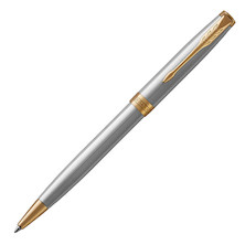 Parker Sonnet Ballpoint Pen Stainless Steel with Gold Trim