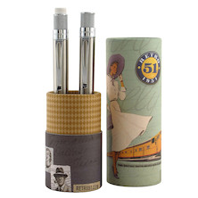 Retro 51 Tornado Rollerball Pen and Mechanical Pencil Set Stainless