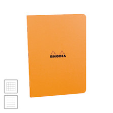 Rhodia Classic Stapled Notebook A4 (210 x 297) Orange