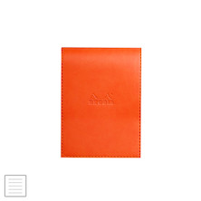 Rhodia Rhodiarama Leatherette Refillable Notepad No.13 (115 x 158) Tangerine