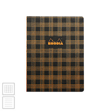 Rhodia Heritage Raw Bound Notebook Tartan 190x250