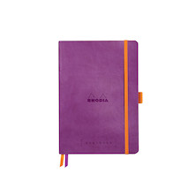 Rhodia Rhodiarama Softcover Goalbook With White Paper A5 Purple