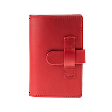 Cult Pens Ruitertassen Leather Notebook Cover 90x140mm Red