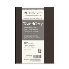 Strathmore 400 Toned Grey Sketch Art Journal Softcover 5.5x8