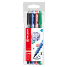 STABILO pointMax Colouring Pen Wallet of 4 Assorted