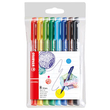 STABILO pointMax Colouring Pen Wallet of 8 Assorted