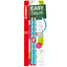 STABILO EASYgraph Handwriting Pencil Twin-Pack Blue