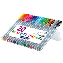 Staedtler Triplus Fineliner Pen Assorted Box of 20 334SB20