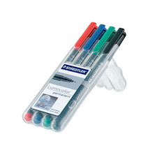 Staedtler Lumocolor Marker Pen Permanent Fine Wallet of 4
