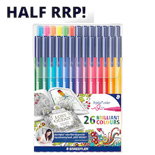 Staedtler Triplus Colour Pen Johanna Basford 26 Colour Pack