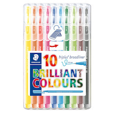 Staedtler Triplus Broadliner Pen 338 Box of 10 Assorted