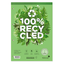 Silvine Premium 100% Recycled Refill Pad A4
