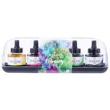 Royal Talens Ecoline Liquid Watercolour 30ml Primary Set of 5