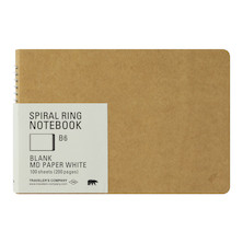 TRAVELER'S COMPANY Notebook Spiral Ring B6 MD White