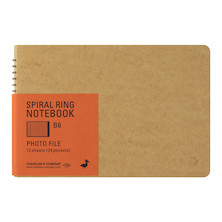 TRAVELER'S COMPANY Notebook Spiral Ring B6 Photo File