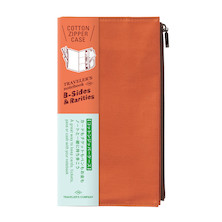 TRAVELER'S COMPANY Traveler's Notebook Cotton Zipper Case Orange