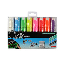 Uni Chalk Marker Pen PWE-8K Assorted Set of 8