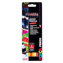 Uni POSCA Pencil Assorted Set of 6 Sunny