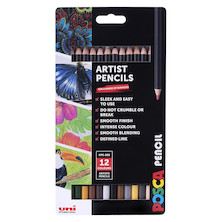 Uni POSCA Pencil Assorted Set of 12 Terra