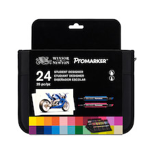 Winsor & Newton ProMarkers Set of 24 Student Designer
