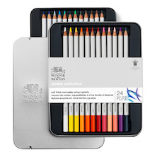 Winsor & Newton Studio Collection Watercolour Pencils Assorted Tin of 24