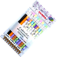 Zebra Cadoozles Pencils Assorted Set of 10