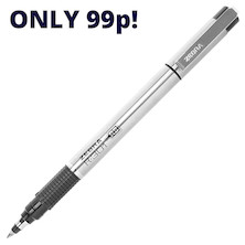 Zebra R-301 Stainless Steel Ink Rollerball Pen and Refills