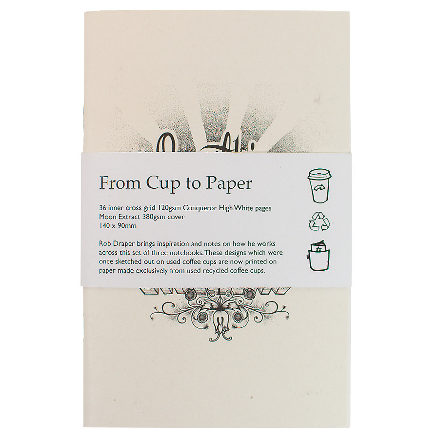 Back Pocket Coffee Cups Notebooks Set of 3