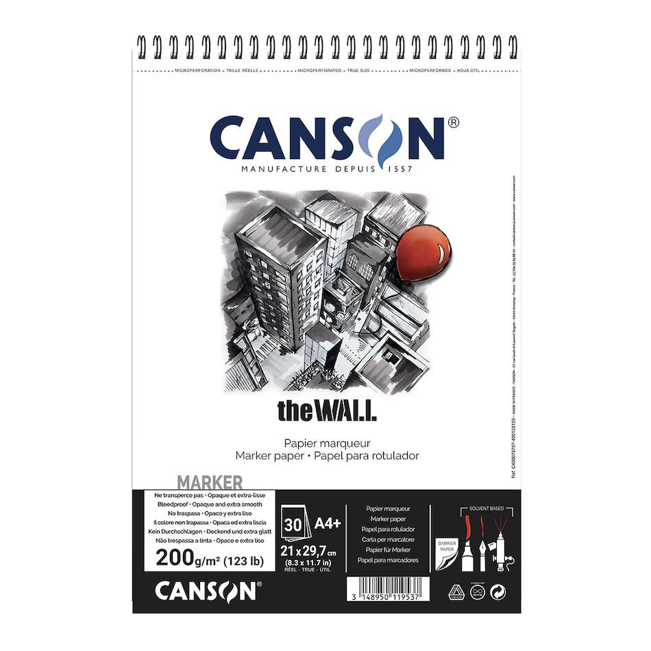 Canson The Wall Spiral Pad A4
