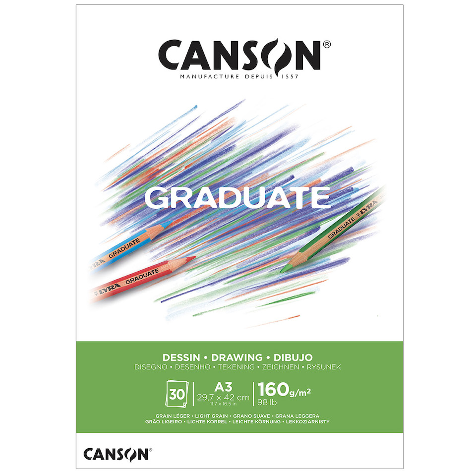 Canson Graduate White Drawing Pad A3