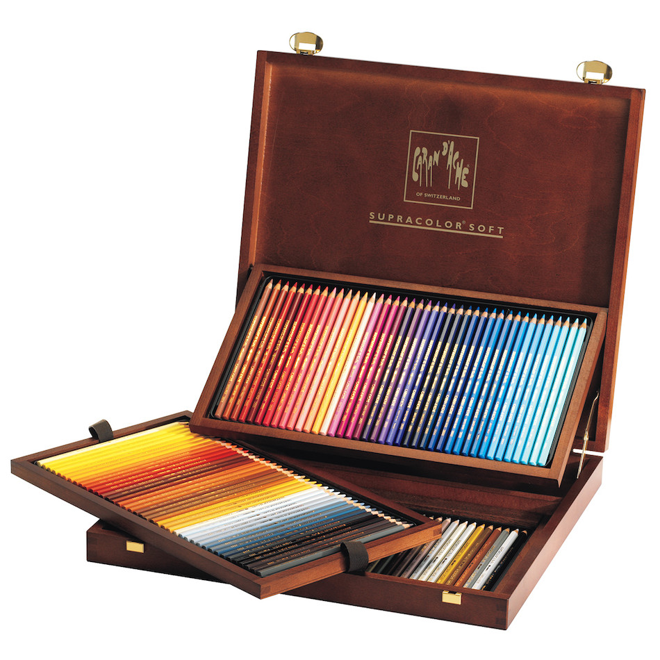 Caran d'Ache Supracolor Water Soluble Pencils Wooden Box of 120 Colours