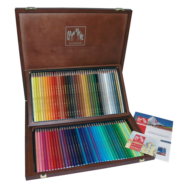 Caran d'Ache Prismalo Colouring Pencils Wooden Box of 80