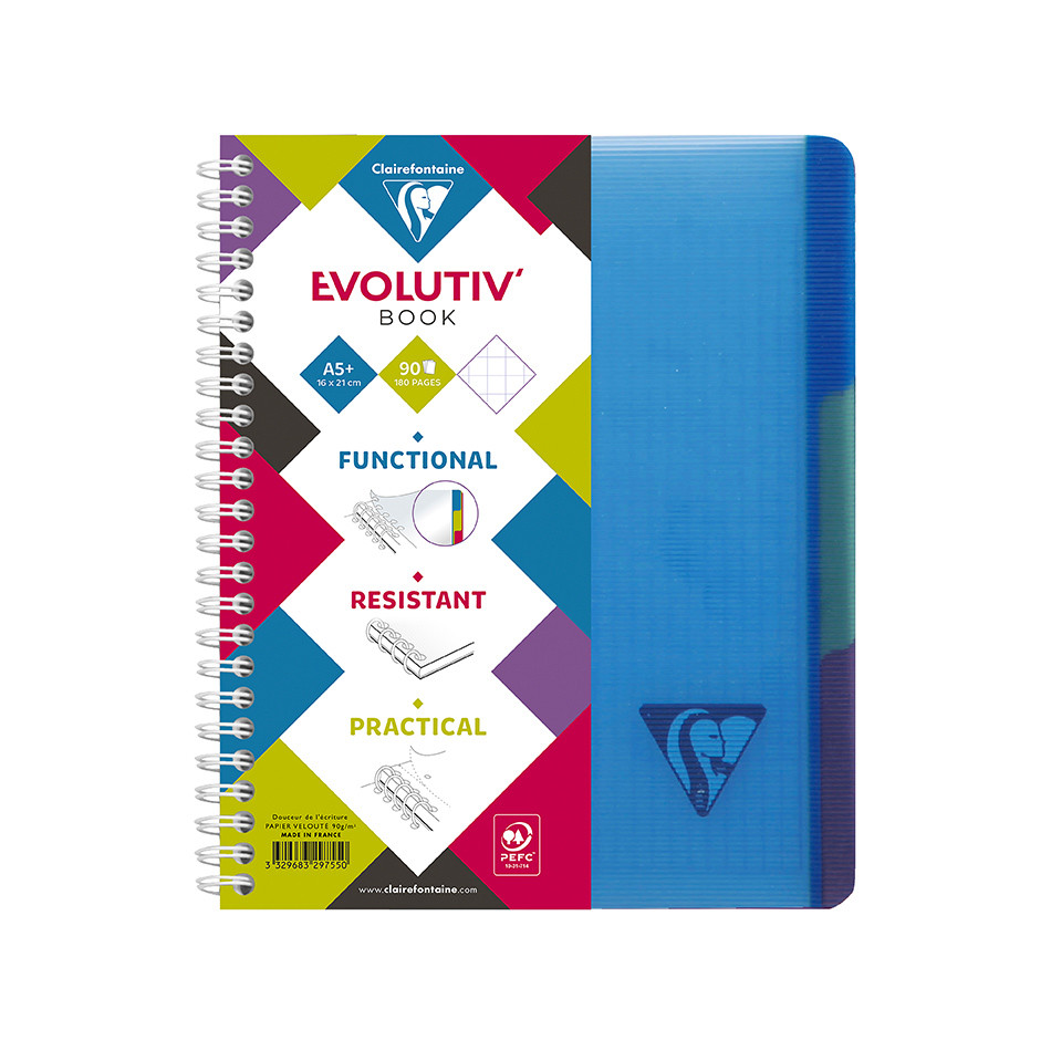 Clairefontaine Linicolor Wirebound Notebook A5 + Removable Divider