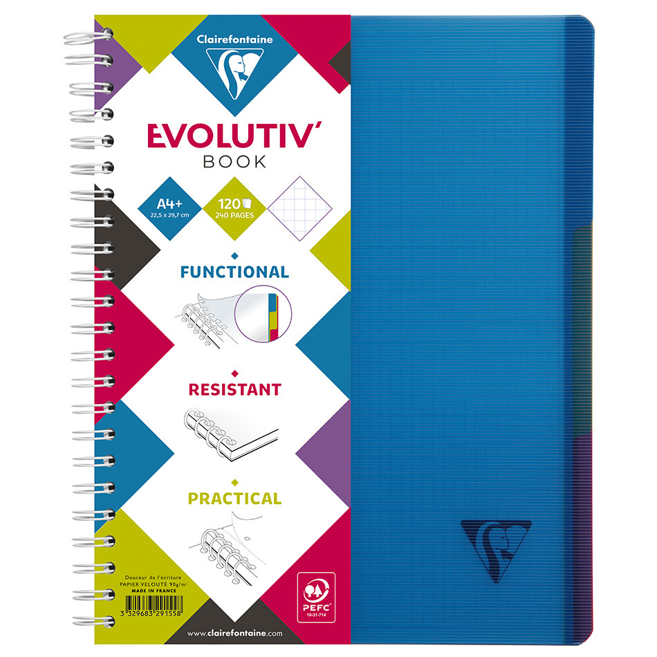 Clairefontaine Linicolor Wirebound Notebook A4